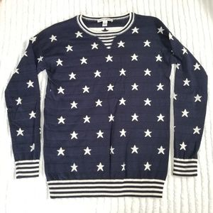 Autumn Cashmere Stars and Stripes Sweater